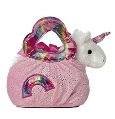 Aurora World Fancy Pal Pet Plush Carrier, Rainbow -- To view further for this item, visit the image link.