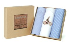 Men's cotton handkerchiefs printed with vintage bicycle motif. Gift for men who bike. Vintage Bicycles, Bike, Handkerchiefs, Pure Products, Men's Accessories, Prints, Cotton, Packing, Clothing