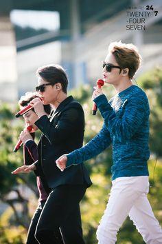 JYJ's rehearsal for K-Pop Concert at 2014 Gangnam Festival Pops Concert, Kim Jae Joong, Korean Bands, Jaejoong, Jyj, Tvxq, Listening To Music, Pop Group, Pop Culture