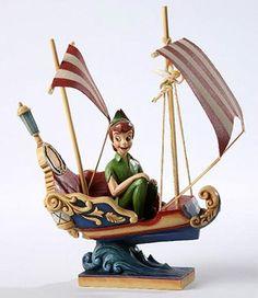 Disney Traditions Jim Shore Peter Pan's Flight with Tinker Bell Figurine Disney Parks Blog, Disney Pixar, Walt Disney, Disney Figurines, Fairy Figurines, Peter Pan Nursery, Disney Cards, Disney Traditions, Disney Cruise Line