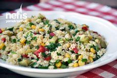 Yıldız Şehriye Salatası Appetizer Salads, Appetizers, Star Noodle, Turkish Salad, Turkish Recipes, Ethnic Recipes, Turkish Kitchen, Wie Macht Man, Noodle Salad