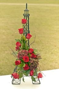 decorating an eiffel tower with flowers - Google Search