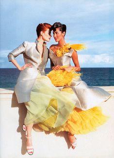 Magazine: Vogue UK February 1995  Title: Pretty Woman  Model: Meghan Douglas and Yasmeen Gaurhi  Photographer: Mario Testino