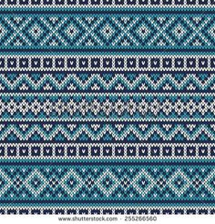 Knitted Sweater Design. Fair Isle Seamless Pattern
