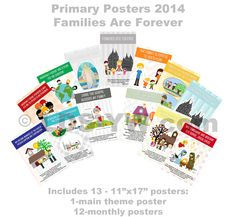 2014 Primary Poster SET Families are Forever.  LDS