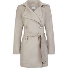 Armani Collezioni Double-Faced Belted Trench Coat found on Polyvore