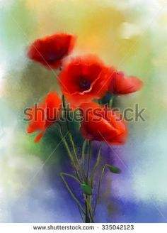 poppy paintings watercolor - Google Search
