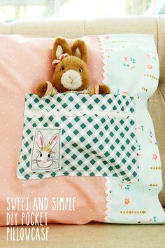 Sweet and Simple DIY Pocket Pillowcase