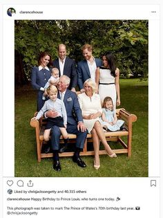 Clarence House Happy Birthday to Prince Louis, who turns one Clarence House, Prince Charles, Prince William And Catherine, Camilla Parker Bowles, Royal Family Portrait, Family Portraits, Jackson, Meghan Markle, Prince Harry