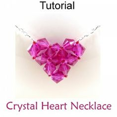 Crystal Heart Necklace PDF Beading Tutorial