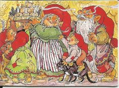 Fleson Postkortgalleri - HARTMANN, SUSANNA Elves, Fairy Tales, Christmas Cards, Painting, Gnomes, Faeries, Dwarf, Xmas Greeting Cards, Painting Art