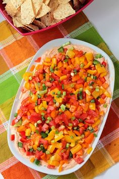 Veggie Taco Dip-this is a very healthy option for Weight Watchers, Gluten Free, Vegetarian, just about anything.