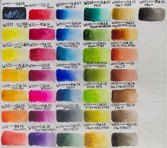 Обзор набора акварели в тубах Mission Gold от Mijello, Корея. Swatch. Выкраски. Watercolor Mixing, Ds, Watercolor Painting