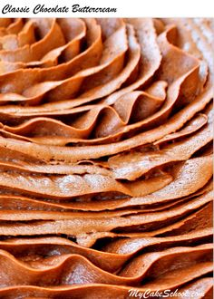 Delicious Classic Chocolate Buttercream Frosting Recipe By Mycakeschool Com Makes For The Perfect Chocolate