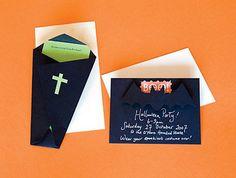 printable coffin  templates | Caseras y originales tarjetas de invitación para fiestas de Halloween