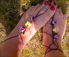 Pink and cream flower barefoots
