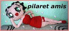 """Muñeca Betty Boop Amigurumi - Patrón Gratis en Español en versión PDF - Click """"PATRÓN"""" en letras azules debajo de las fotos de Betty aquí: http://amigurumiscuquis.blogspot.com.es/2015/02/betty-boop.html"""