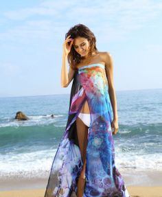 Beach Long Maxi Dress Floral Tropical Resort by thecuriouszoo, $30.00