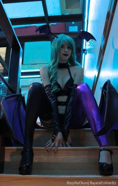 Don't be so scared. It only hurts a little... Sexy Morrigan from Darkstalkers by RizzyOkuni on DeviantArt