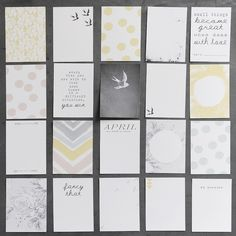 journal cards no. 4 (perfect for project life) Project Life Scrapbook, Project Life Cards, Scrapbook Journal, Project 365, Journal Cards, Journal Prompts, Family Photo Album, Photo Book, Layout Inspiration