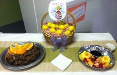 Easter goodie table for all customers to enjoy while shopping!