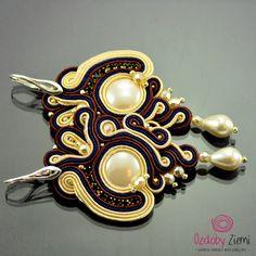 Ozdoby Ziemi: Kolczyki sutasz - Dewi Air Mutiara Soutache #soutache #soutacheearrngs #earrings #souachejewelry #handmade #OzdobyZiemi
