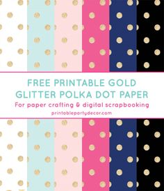 Free Printable Gold Glitter Polka Dot Digital Paper from printablepartydec. Free Printable Gold Glitter Polka Dot Digital Paper from printablepartydec. Digital Scrapbook Paper, Digital Paper Free, Free Paper, Digital Papers, Polka Dot Paper, Polka Dots, Desenhos Love, Free Prints, Printable Paper