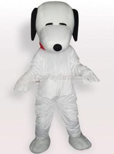 Snoopy Dog with Red Collar Adult Mascot Costume - all the mascot costumes are global free shipping at http://www.cosplayzentai.com