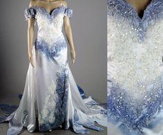 Tim Burton Corpse Bride Wedding Dress gown Costume by LotofVIntage