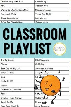 These are our first grade favorite songs for the classroom! We play them during independent work time and it's added such a nice vibe to our community. You'll enjoy the songs on the playlist… More