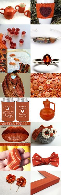 Burnt Orange beauties by Tracey howard on Etsy--Pinned+with+TreasuryPin.com