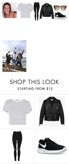 """""""Excursion time"""" by coco-james ❤ liked on Polyvore featuring Topshop, Yves Saint Laurent, NIKE, Fendi, cocograce, hanranhhamoandmurph and excursiontimewithkindy"""