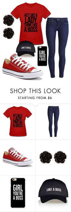 """""""LikeABo$$"""" by fangirling0ver-lae ❤ liked on Polyvore featuring Levi's, Converse, Erica Lyons and Lipsy"""