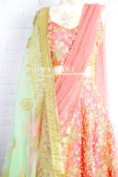 Unique Blouses, Sarees and Lenghas that embody the vibrancy of South Asian fashion with a modest up to date western flair. Banarasi Lehenga, Pink Lehenga, Indian Outfits Modern, Indian Attire, Indian Suits, Indian Wear, Indian Dresses, Indian Clothes, Bridal Lehngas