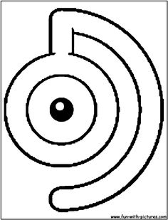 pokemon unown d coloring page