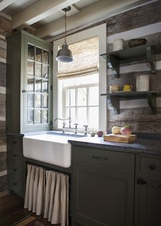SEWANEE CABIN rustic kitchen