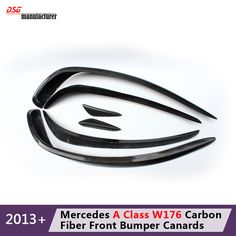 Find More Front Skirt Information about Mercedes W176 carbon fiber front bumper spoiler flap & canard splitters for Benz 2013   2015 A 180 200 250 A45 AMG & AMG package,High Quality splitter front,China splitter bumper Suppliers, Cheap front spoiler from DSG-MANUFACTURER on Aliexpress.com