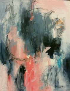 """Into Silence 16"""" x 20"""" Acrylic and graphite on board"""