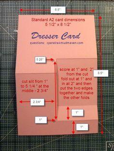 Dresser Card - pattern