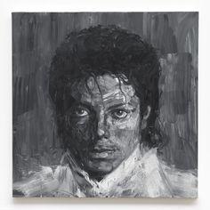 """Yan Pei-Ming, """"Portrait de Michael Jackson"""""""