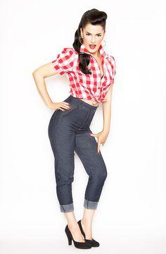 Skinny Dungaree High waist Blue Jeans #pants #wholesale