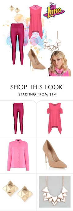 """""""soy luna"""" by maria-look on Polyvore featuring Boohoo, WearAll, Armani Jeans, Lipsy, Valentino, Full Tilt and plus size clothing"""