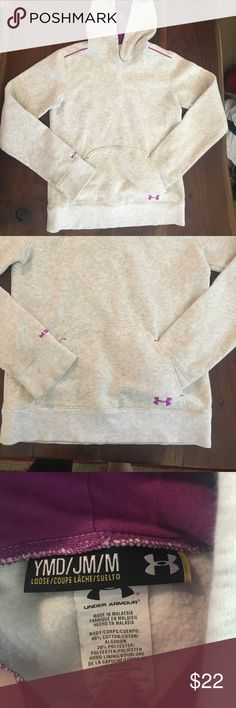 Under Armour Storm girls hoodie Cute purple hood and details, hardly worn in excellent shape. Under Armour Shirts & Tops Sweatshirts & Hoodies