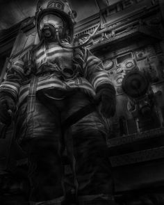 FDNY Firefighter Fireman Oil Painting acrylic by ReburnDesigns