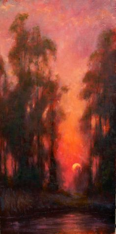 Setting Sun by Michael Orwick Oil ~ 12 x 24