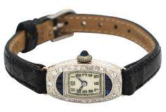 1930s Ladies Glycine Platinum Watch on OneKingsLane.com