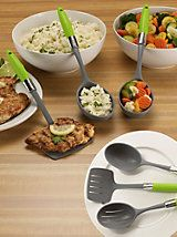 Pre-portioned 3-pc Serving Set - Healthy Steps Portion Control | Solutions - each serving spoon serves up the correct portion of each given food- protein, starch/carb, and vegetable!!