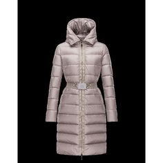 Moncler FABRE Detachable Turtleneck Dove Grijs WinterDonsjas Techno Fabric  Dames 41457123TL