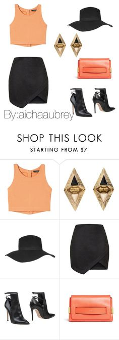 """""""Karrueche Tran"""" by aichaaubrey ❤ liked on Polyvore featuring Topshop, Gianvito Rossi and Chloé"""