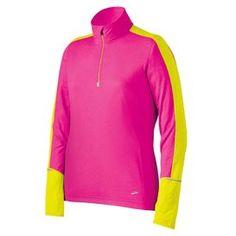 Long-sleeve running shirt for women: Brooks Essential LS 1/2 Zip II